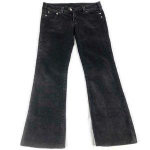 Silver Jeans Black Corduroy Pants Sz 30